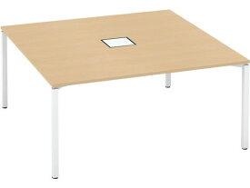 コクヨ/ワークフィット スタンダード両面 アジャスターW1600D1600 WHナチュラル