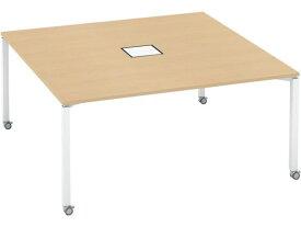 コクヨ/ワークフィット スタンダード両面 キャスターW1600D1600 WHナチュラル
