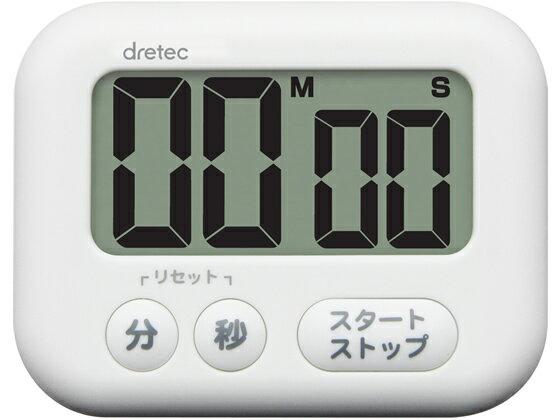 ドリテック/大画面タイマー 「シャボン」 ホワイト/T-541WT