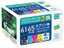 エコリカ/IC4CL6165互換 リサイクルインク 4色パック/ECI-E6165-4P