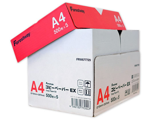 Forestway/高白色コピー用紙EX A4 500枚×5冊