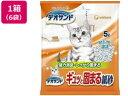ユニ・チャームペットケア/デオサンド ギュッと固まる紙砂 5L×6袋