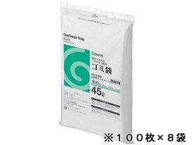 Goono/詰替用ゴミ袋 乳白半透明 45L 100枚*8袋/MC-454R