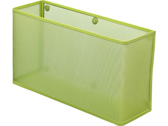 リヒトラブ/マグネットポケット A4横ワイド W330×D100×H180 黄緑