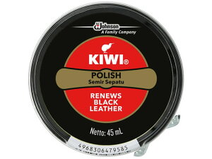 ジョンソン/KIWI 油性靴クリーム SHOE POLISH 黒用 45ml