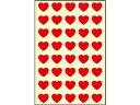 オキナ/パリオシール ハート(型抜タイプ)赤 40片×5枚/PS811