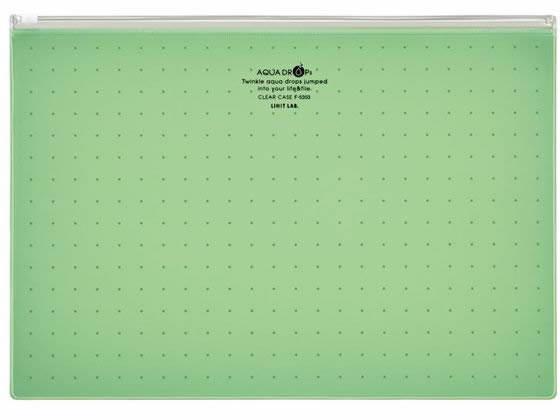 リヒトラブ/AQUADROPsクリヤーケース〈マチなし〉 A4 黄緑/F-5303-6【ココデカウ】