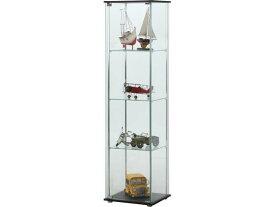 不二貿易/ガラスコレクションケース 4段/96047