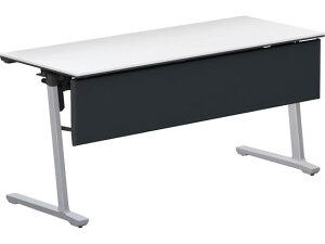 コクヨ/カーム テーブル パネル・棚付 W1500×D600 ホワイト 脚シルバー