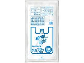 オルディ/エプロンライト手提げ袋 乳白 M 35号 100枚