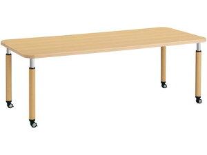 コクヨ/施設用ダイニングテーブル ラチェット 角形 W2100 キャスター ML1