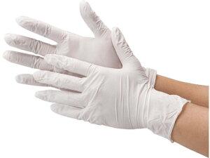 川西工業/ニトリル使いきり極薄手袋 粉なし ホワイト L 100枚