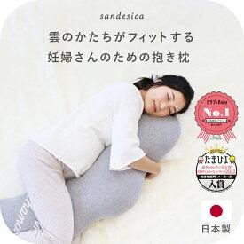 抱き枕 |くぼみが体にフィットするふわふわくもの抱き枕 授乳クッションにもなる妊婦さんに最適 たまひよ 赤ちゃんグッズ大賞2020入賞【日本製】【洗える】サンデシカ公式/ココデシカ
