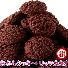 豆乳おからクッキーリッチカカオ500g 送料無料 国産大豆使用 カカオ分22%配合でほろ苦い風味  カロリー1枚あたり(5g)約21kcal