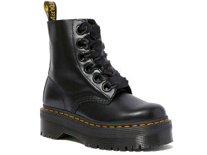 MOLLY LEATHER PLATFORM BOOTS BLACK BUTTERO 24861001 レディース