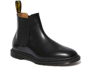 GRAEME II LEATHER CHELSEA BOOTS BLACK POLISHED SMOOTH 25031001