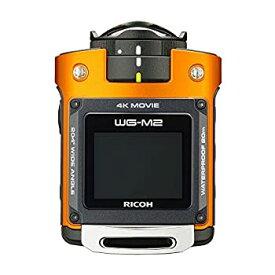 【中古】RICOH 防水アクションカメラ WG-M2 オレンジ 4K動画 超広角204度 ハウジング不要 防水20m 耐衝撃2m 03801