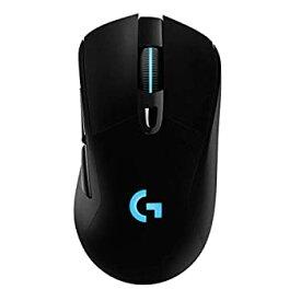 【中古】Logicool G ゲーミングマウス ワイヤレス G703h ブラック LIGHTSPEED 無線 エルゴノミクス ゲームマウス HERO16Kセンサー LIGHTSYNC RGB POWERPL