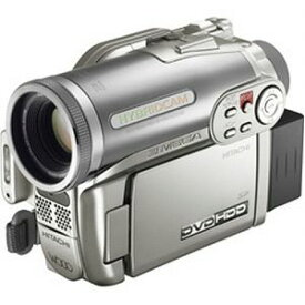 【中古】HITACHI ハイブリッドDVDカメラ DZ-HS303 Wooo シャンパンシルバー DZ-HS303-S