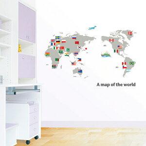 【メール便送料無料】ウォールステッカー 【TE】  A map of the world PS-58168 HYUNDAE社製 【送料無料・送料込】