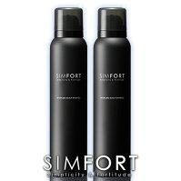 SIMFORTスパークリングスカルプシャンプー[2本セット](150g×2)炭酸濃度8,000ppm!【メンズ炭酸シャンプー/男性/頭皮ケア/スカルプケア】