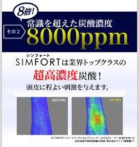【送料無料】SIMFORT(シンフォート)スパークリングスカルプシャンプー[4本セット](150g×4)炭酸濃度8,000ppm!【メンズ炭酸シャンプー/男性/頭皮ケア/スカルプケア/シムフォート】