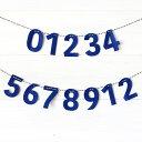 フェルトのガーランド (ナンバー 0〜9,1,2)ココレカオリジナル お誕生日記念日 お祝い