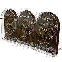 贈呈用 3連時計 Link ウォルナット【送料無料】両親贈呈品 記念品 結婚式 披露宴 名入れ 贈り物 プレゼント 三連時計…