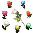 光るバラ シャイニングローズ LED  キャンドルサービス 高輝度LEDローズ 水反応式 ピンク ブルー グリーン レッド ホ…