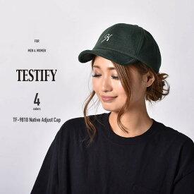 キャップ 帽子 ロゴキャップ メンズ レディース ネイティブ アジャスト キャップ テスティファイ TESTIFY