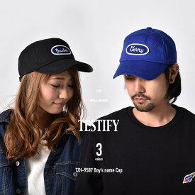 キャップ 帽子 ロゴキャップ ワッペンキャップ メンズ レディース ボーイズネーム キャップ テスティファイ TESTIFY