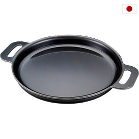 日本製 極厚 焼き物鉄板 28.5cm SU-601 底厚4.5mm 鉄製鉄板 鉄 鉄板 丸型鉄板 餃子 お好み焼き 燕三条 日本製
