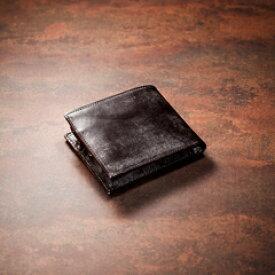 【伝統職人】【COCOMEISTER(ココマイスター)】ジョージブライドル・バイアリーパース 英国1000年の歴史を誇るブライドルレザー 2つ折り財布 メンズ 紳士物