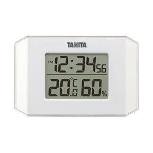 温度計 湿度計 タニタ 温湿度計 | 送料無料 デジタル時計 カレンダー 置き時計 卓上 おしゃれ コンパクト ホワイト TT-574/WH TANITA