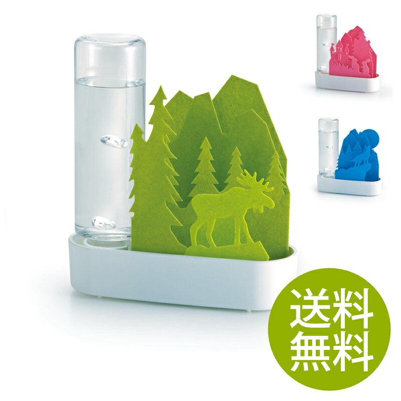 セキスイ 気化式加湿器 うるおい ちいさな森   送料無料 送料込 気化式 加湿器 かわいい エコ 子供部屋 SEKISUI 積水樹脂