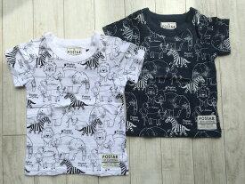 POSTAR 動物総柄 Tシャツ