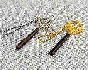 お守り 極豆錫杖  日本製 職人 黒檀 真鍮 ストラップ 密教 錫杖 厄払い お祈り ミニチュア 五千円以上で送料無料