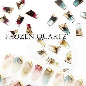 【速達メール便対応】フローズンクォーツ(3個)天然石 宝石風 アイス 氷 透明 ネイルパーツ レジン メタルパーツ