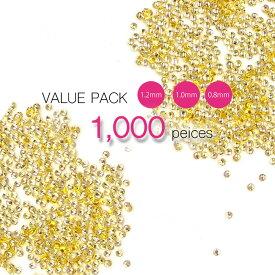 大容量1000個パック 極小スタッズ 丸スタッズ 0.8 mm 1mm 1.2mm 半円スタッズ ブリオン 極小 ネイル レジン ジェルネイルに