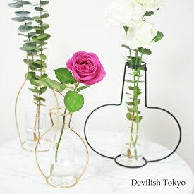 【フラワーベース型アイアンフレーム】お部屋に華やかさをプラスするフラワーベース型アイアンフレーム♪ 花瓶 北欧 インテリア ディスプレイ アイアンフレーム