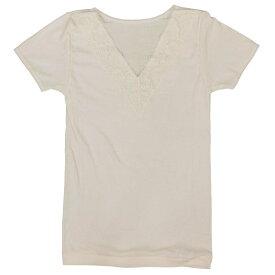 半袖 綿 肌着 レース付き(ミセス 敬老の日 シニア向け 服 衣料 介護 老人 高齢者 シニア 大きいサイズ 70代 80代 女性 婦人服 レディース 高齢者服 ) 通販