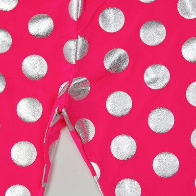 キッズダンス衣装レギンス/ドットレギンスBYPI-01[ダンス衣装ヒップホップHIPHOPパンツガールズ柄レギンス派手目立つ蛍光色ネオンカラー水玉キッズジュニアレディース黒ピンクオレンジイエロー黄色子供韓国子供服]