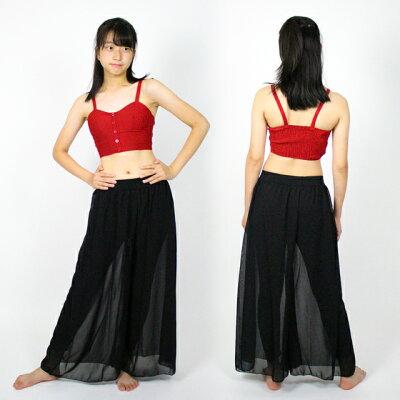 ダンス衣装ブラトップトップスハーフトップ黒白赤ストライプヒップホップジャズCQTK-02[ダンスレディースガールズ高学年ジュニアコルセット風衣装目立つチューブトップタンクトップノースリーブ発表会へそ出し]