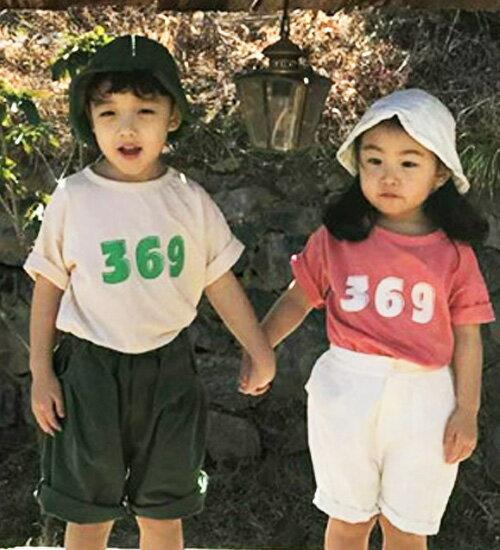 TIMESALE・ナンバー・半袖Tシャツ・2色・80cm・90cm・100cm・110cm・120cm・韓国子供服・cocostyle