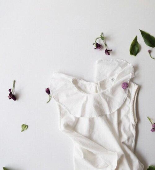 ラブリーカラー半袖Tシャツ・フリフリカラーがラブリーな♪90cm・100cm・110cm・120cm・130cm・韓国 子供服 ・cocostyle