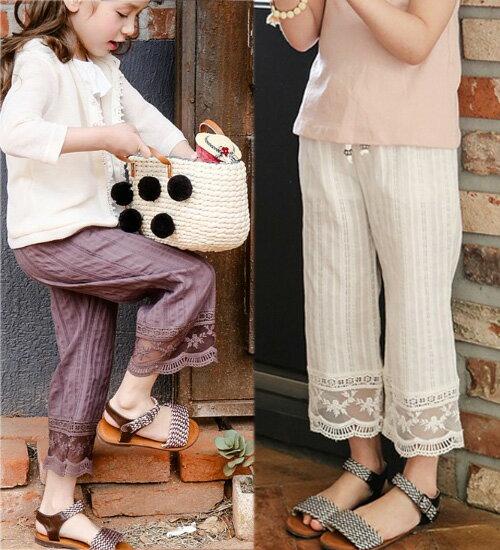 TIMESALE・ハレナパンツ・裾のレイスが可愛いゆったりしたパンツ♪90cm・100cm・110cm・120cm・130cm・140cm韓国 子供服 ・cocostyle