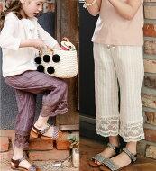 【ハレナパンツ】裾のレイスが可愛いゆったりしたパンツ♪◎90cm・100cm・110cm・120cm・130cm・140cm韓国子供服・cocostyle