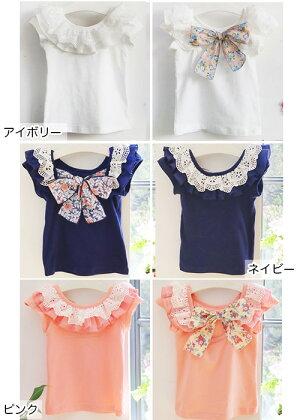 【ディアマンTシャツ】女の子が大好きなコットンレースを胸元にたっぷりあしらった毎夏大人気の一着♪◎90cm・100cm・110cm・120cm・130cm・卒業式・入学式・韓国子供服・cocostyle