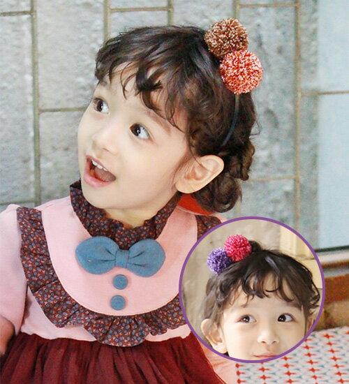 最後1点SALE・ニットのぼんぼんがキュート・カチューシャ・90cm・100cm・110cm・120cm・130cm・ 韓国子供服・cocostyle