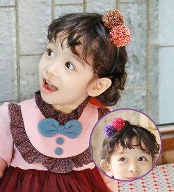 スーパーSALE 20%OFF・ニットのぼんぼんがキュート・カチューシャ・90cm・100cm・110cm・120cm・130cm・ 韓国子供服・cocostyle